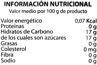 Pulpa de mango congelada - Información nutricional