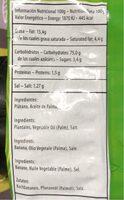 Plátanos con sal - Valori nutrizionali - fr