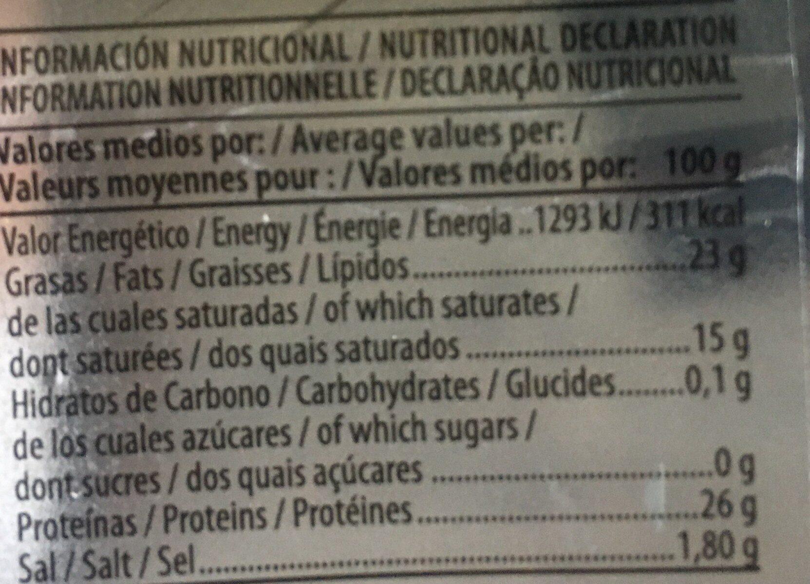 Miraflores - Nutrition facts - fr