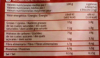Biscuit Maria - Voedingswaarden