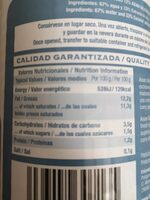 Jugo de coco - Nutrition facts - es