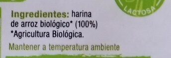 Fideos de arroz biologicos - Ingredients - es