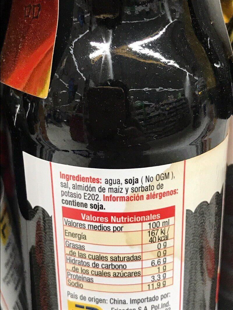 Tradicional Soy Sauce - Ingredients