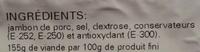 Jambon Serrano - Ingredientes