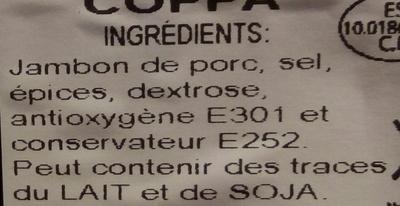 Chiffonade - Ingrédients - fr