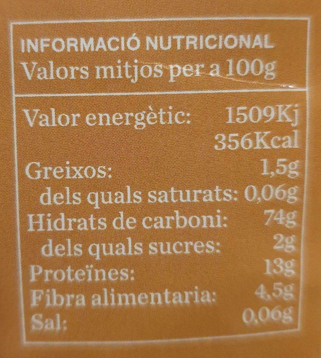Macarrons integrals  d'esperar bio - Informations nutritionnelles - es