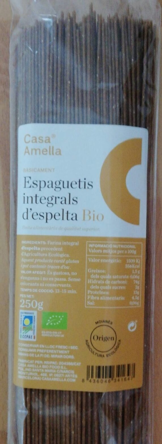 Spaguetis integrales espelta - Produit - es