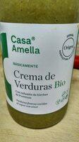 Crema de verduras ecológicas cocidas al vapor - Producto