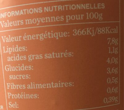 Gaspacho BIO - Informations nutritionnelles - fr