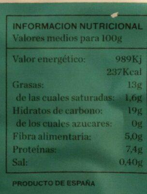Hamburguesa tofu escalibada Bio - Nutrition facts - es