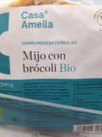 Hamburguesa cereales Mijo con brócoli Bio - Produit