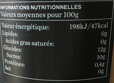 Jus BIO pomme & poire -100% pur jus - Informations nutritionnelles - fr