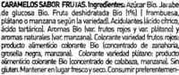 Caramelos sabor frutas - Ingredients - es