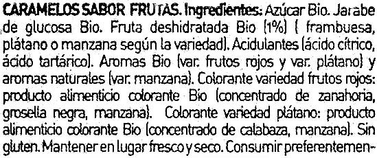 Caramelos sabor frutas - Ingredientes - es