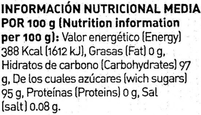 Caramelos sabor frutas - Información nutricional - es