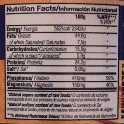 Manteca de cacahuete - Nutrition facts - es