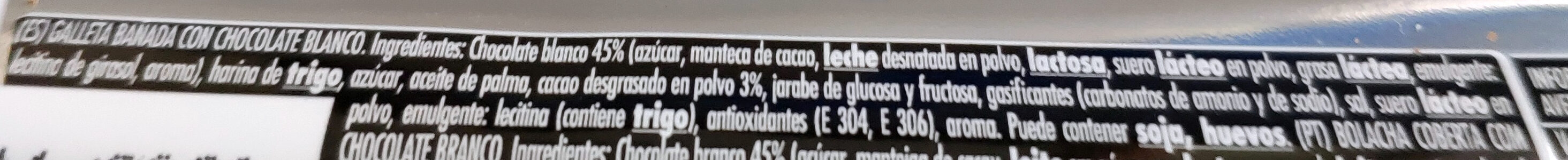 Filipinos chocolate blanco - Ingredients - es