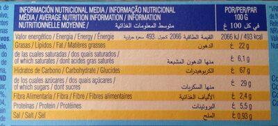 Dinosaurus choco - Informació nutricional