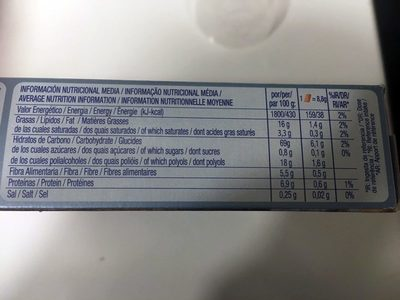 Chiquilín - Informació nutricional - es