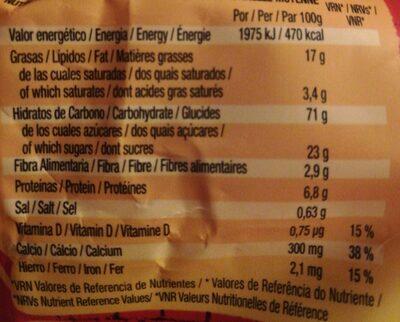 Energy mini - Información nutricional - es