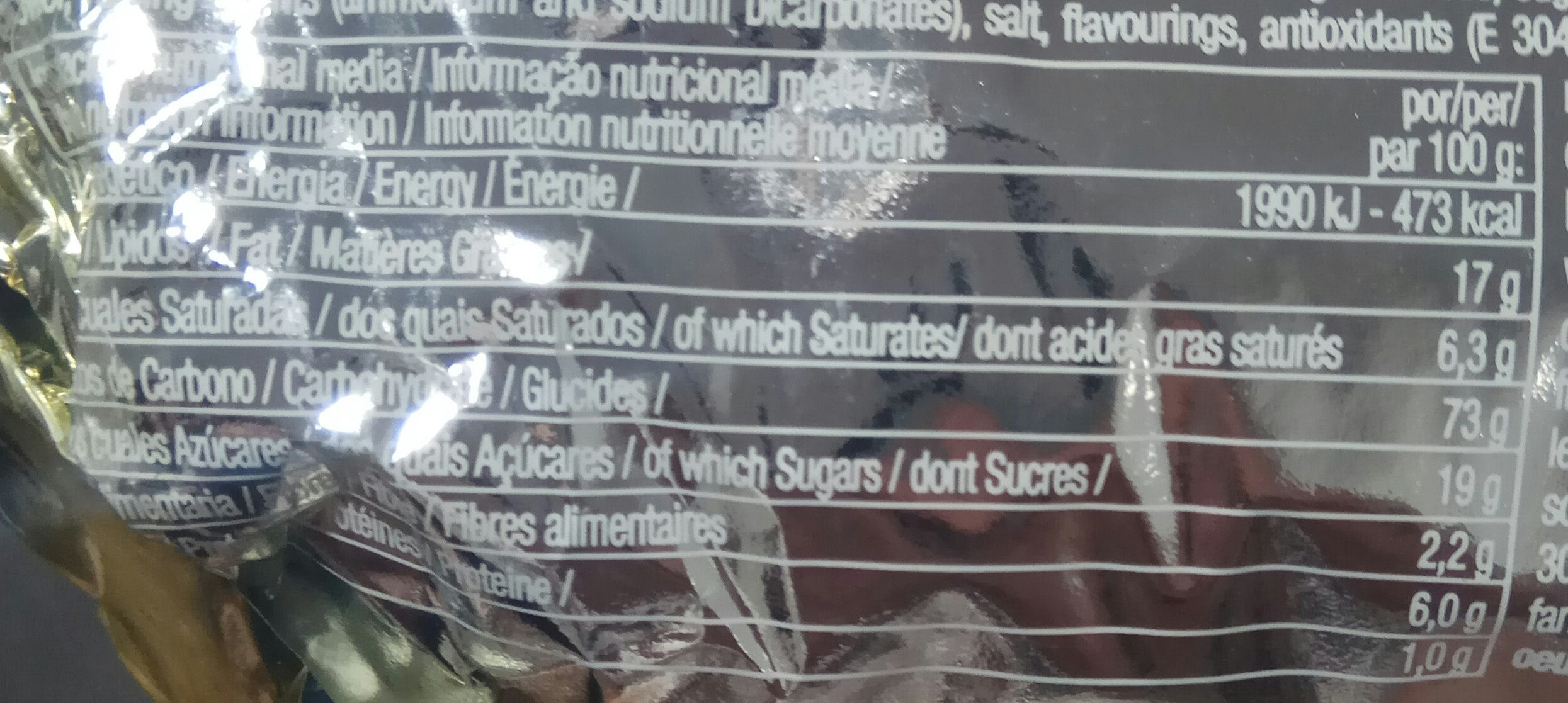 Marbú dorada - Informations nutritionnelles