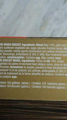 Marbu dorada - Ingredients