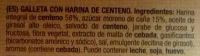 Marbú Centeno - Ingredients