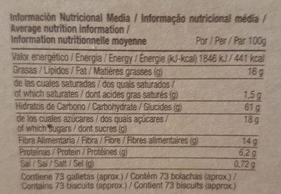 Marbú Centeno - Informació nutricional