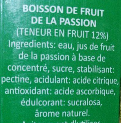 Bidida de Maracuya - Ingredientes - fr