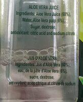 Boisson aloe vera - Ingrediënten