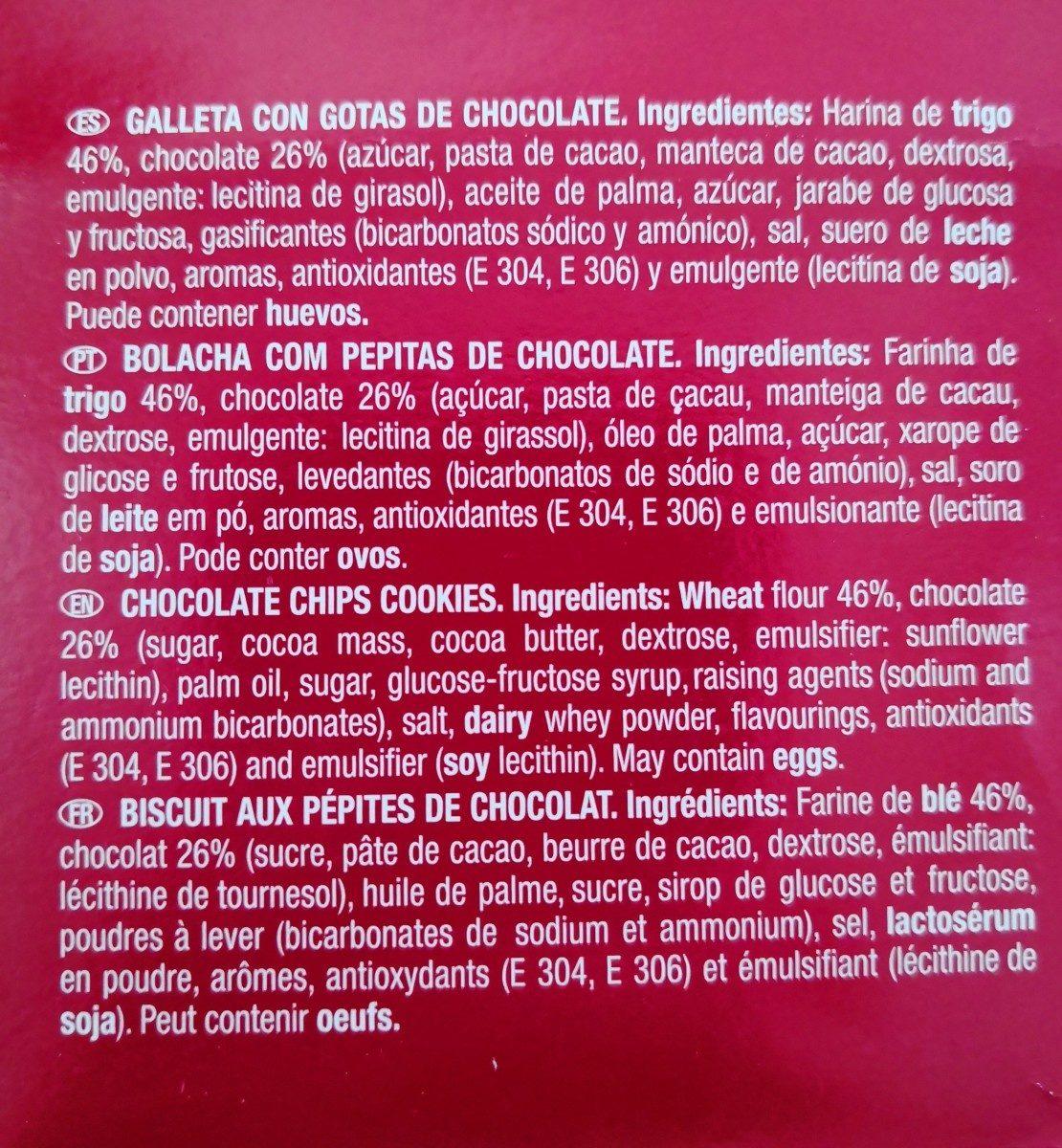 Galetes Chiquilin Chiquichocs - Ingredientes