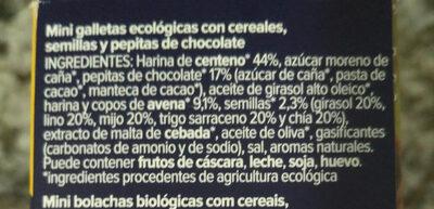 Mini Cookies de Centeno y Chocolate - Ingredientes