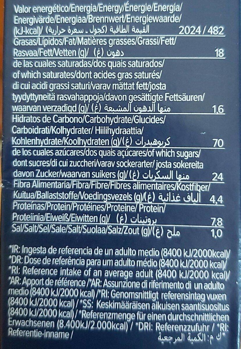 BIO ORGANIC CEREALS - Información nutricional - es