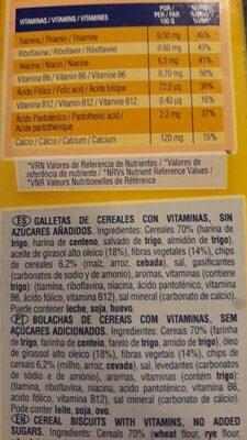 Cookienss a cucharadas galletas de cereales con - Ingredientes - es