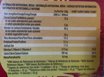 Chiquilín Energy - Información nutricional - es