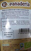 Bollo brioche con chocolate - Product - es