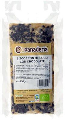 Bizcorrón de Coco con Chocolate - Biopanadería - Producto - es
