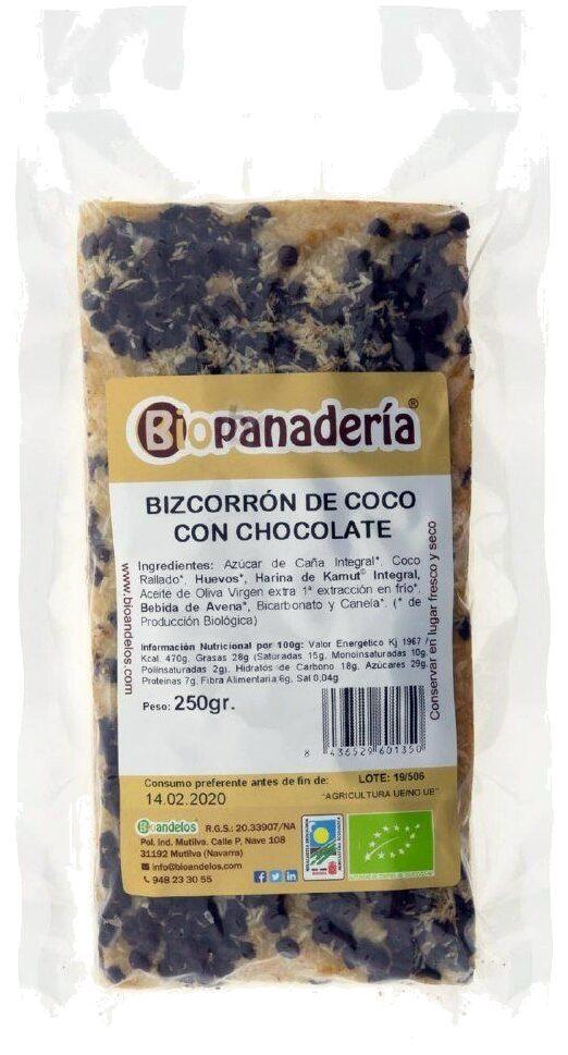 Bizcorrón de Coco con Chocolate - Biopanadería - Product - es