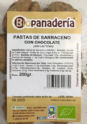 Pastas de Sarraceno con Chocolate - Product