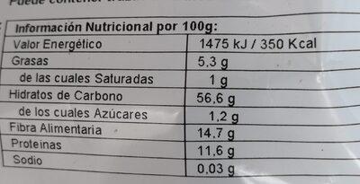 Copos de Avena Largos - Nutrition facts - es