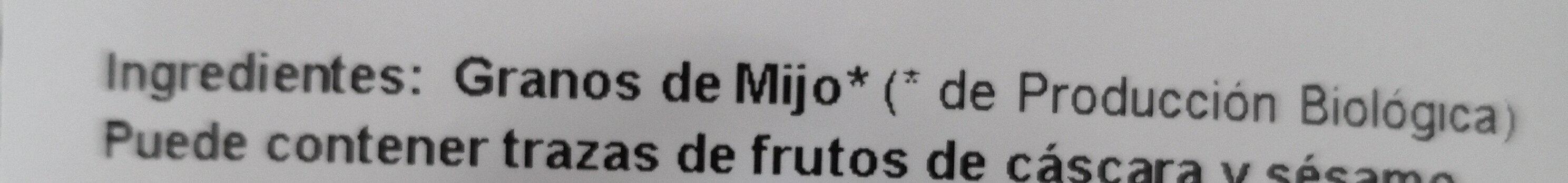 Mijo hinchado - Ingredients - es