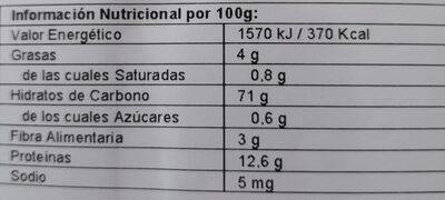 Mijo hinchado - Nutrition facts - es