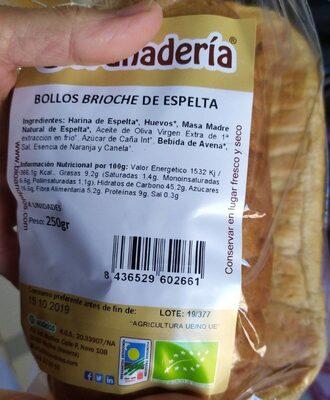 Bollos Brioche de Espelta - Product