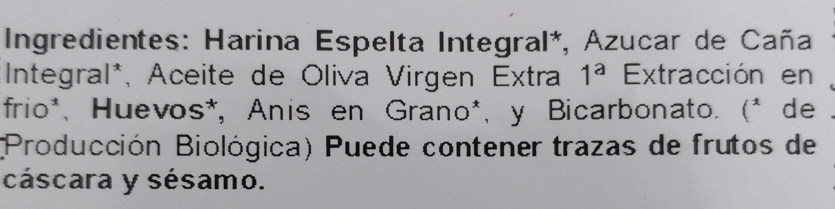Romanicas de Espelta Integral - Ingredients - es