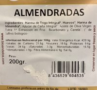 Almendradas - Nutrition facts - es