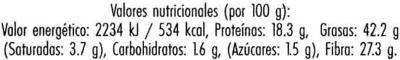 Linaza dorada - Información nutricional - es