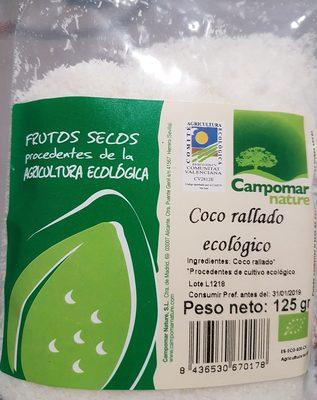 Coco rallado ecológico - Producto