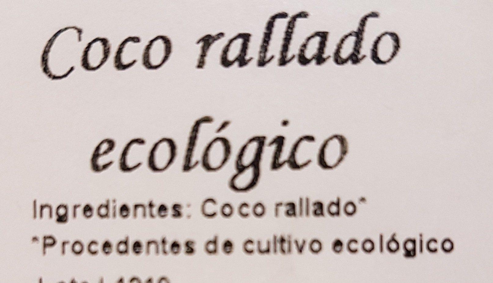 Coco rallado ecológico - Ingredients - es