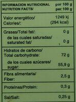 Membrillo Ecológico - Informations nutritionnelles - es