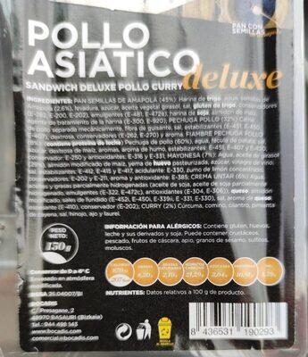 Pollo asiático Deluxe - Valori nutrizionali - es